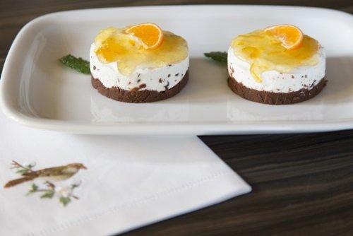 Uno_Chef_per_Gaia_mini cheesecake al cioccolato e arancia
