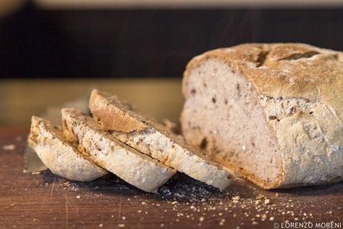 Il pane pronto per essere gustato