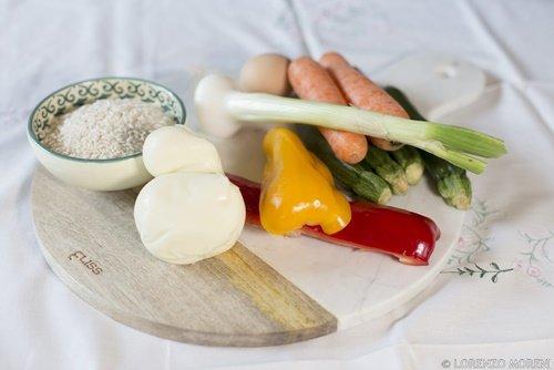 Gli ingredienti della bomba di riso vegetariana