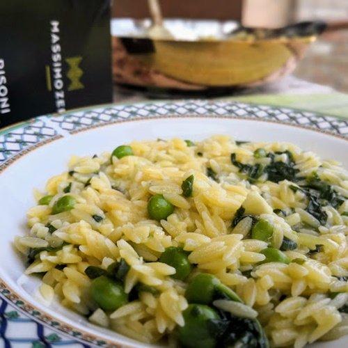 Risoni con verdure dell'orto