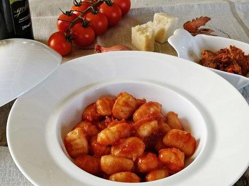 Gnocchi di patate pomodoro e 'nduja