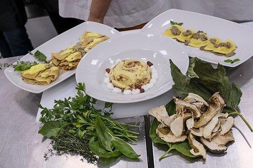 I tre piatti presentati