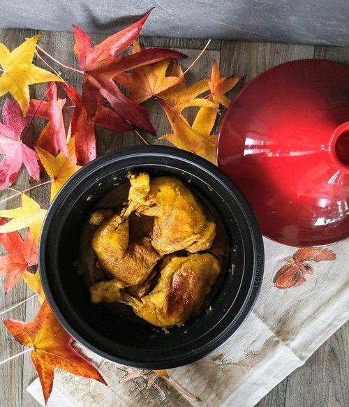 I colori della Tajine di pollo alla curcuma e limone