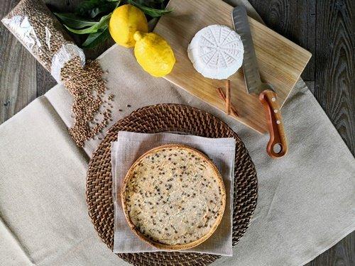 La Crostata di ricotta e lenticchie con gli ingredienti per il ripieno
