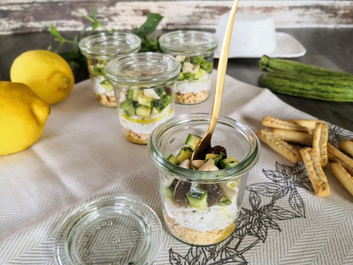 cheesecake salate con zucchine e olive