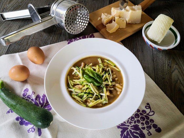 Passatelli in crema e verdure croccanti