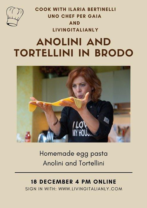 anolini and tortellini in brodo