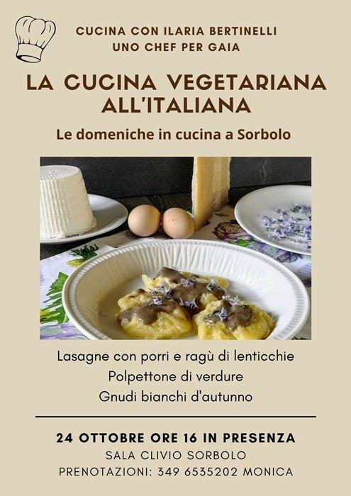 volantino cucina vegetariana